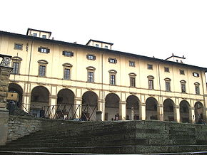 The Vasari Loggia on Piazza Grande.