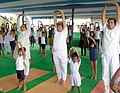 Arjun Ram Meghwal performing Yoga, on the occasion of the 3rd International Day of Yoga – 2017, in collaboration with the Ministry of AYUSH, at IRIIM Campus, Mourigram, Howrah, in West Bengal (1).jpg