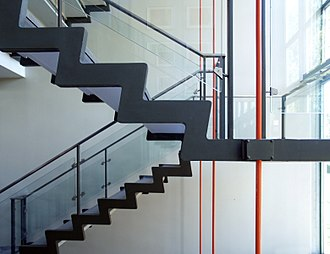 Arne Jacobsen - Rødovre Town Hall central staircase