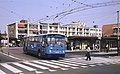 Arnhem Leyland-Verheul trolleybus 162 leaving the railway station in 1983.jpg