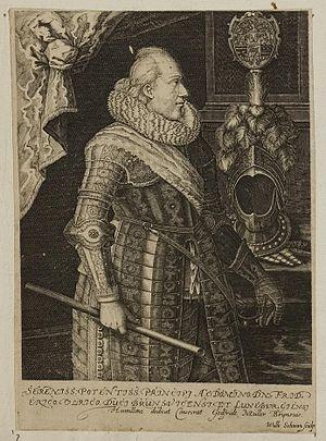 Frederick Ulrich, Duke of Brunswick-Lüneburg - Image: Arolsen Klebeband 01 225 2