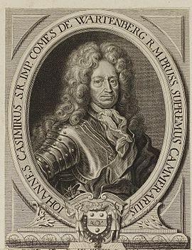 Johann Casimir Kolbe von Wartenberg, Graf