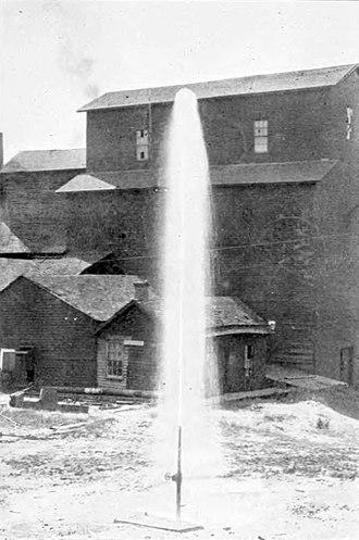 Belle Plaine, Iowa - An Artesian Well at Belle Plaine, 1903