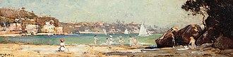 Mosman, New South Wales - Arthur Streeton, Mosman's Bay, 1914