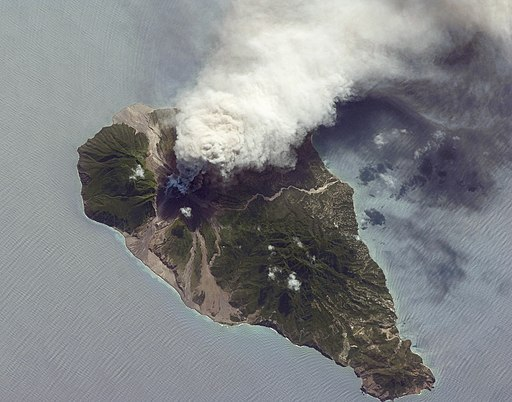 Ash and Steam Plume, Soufriere Hills Volcano, Montserrat