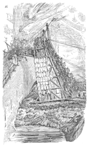 19th century French drawing of a medieval belfry.