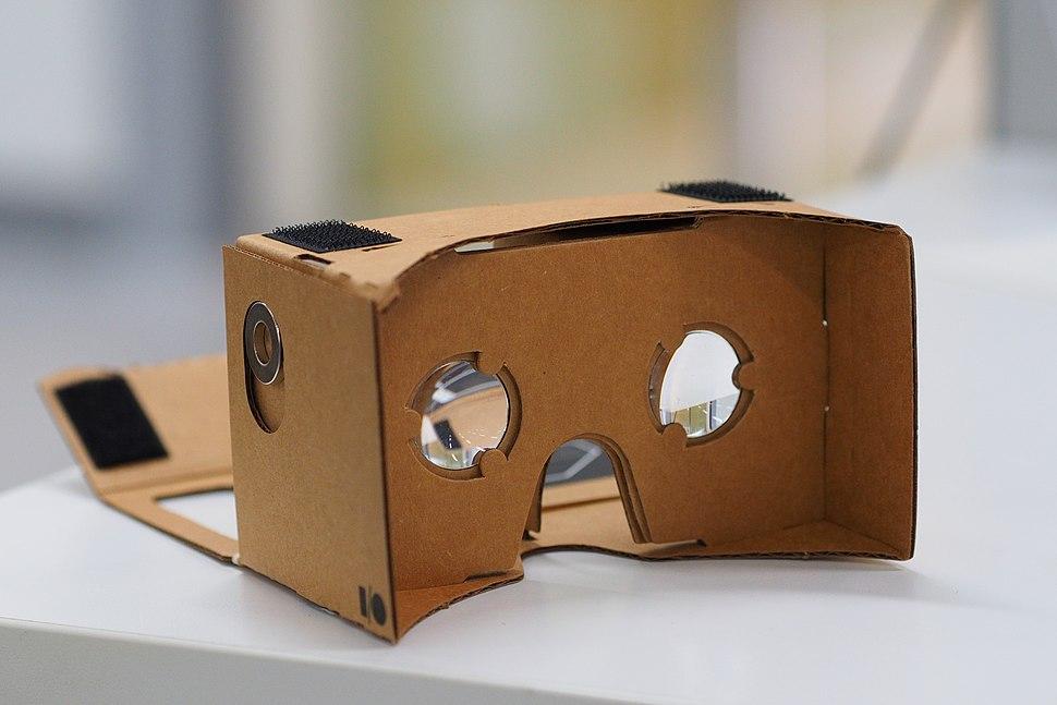 Assembled Google Cardboard VR mount