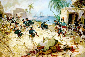 Battle of Derna (1805) - Image: Attack on Derna by Charles Waterhouse 01