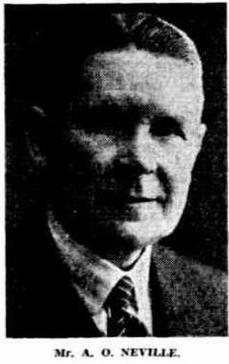 A. O. Neville - A.O.Neville picture in 1940 edition of The West Australian