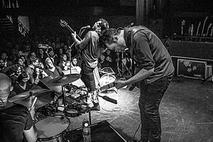 Augustines (band) - Image: Augustines at the Bowery 01