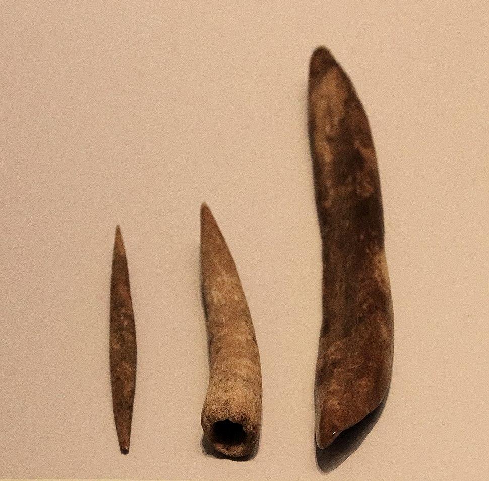 Aurignacian Culture Bone Tools, Hayonim Cave, 30000 BP