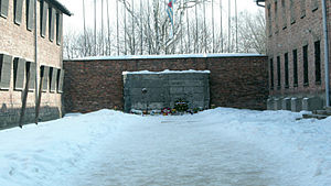 Auschwitz-Birkenau Memorial and Museum - Image: Auschwitz Death wall 1.5