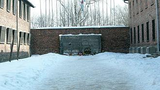 Auschwitz-Birkenau Memorial and Museum - The Auschwitz death wall, where inmates were executed, was located near block 11 in Auschwitz I.