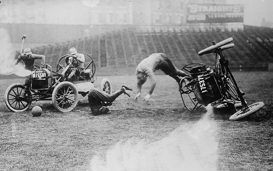 Auto Polo by the Library of Congress crop