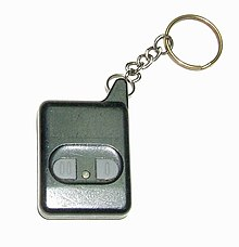 Remote keyless entry fob for a car Automobile remote keyless entry transmitter.jpg