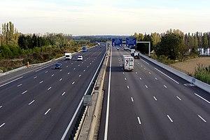 A7 autoroute - A7 Autoroute near Orange