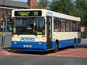 Avon Buses - Plaxton Pointer bodied Dennis Dart in Birkenhead in September 2009