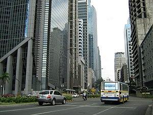English: Ayala Avenue in Makati City, Metro Ma...