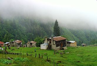 Rize Province - A view from Ayder plateau