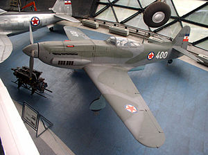 Ikarbus - Ikarus S-49C fighter plane on display at Belgrade Aviation Museum.