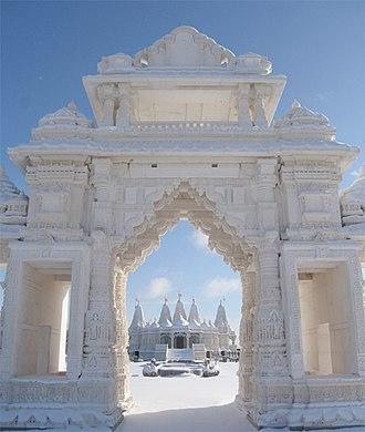 BAPS Shri Swaminarayan Mandir Chicago - Image: BAPS Chicago Mandir 7
