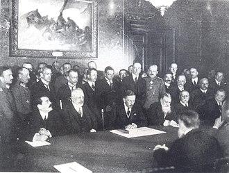 Treaty of Bucharest (1918) - Image: BASA 313K 3 44 1 Treaty of Bucharest (1918)