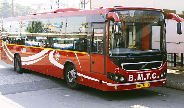 A Bharat Stage IV Volvo operated by the Bangalore Metropolitan Transport Corporation.