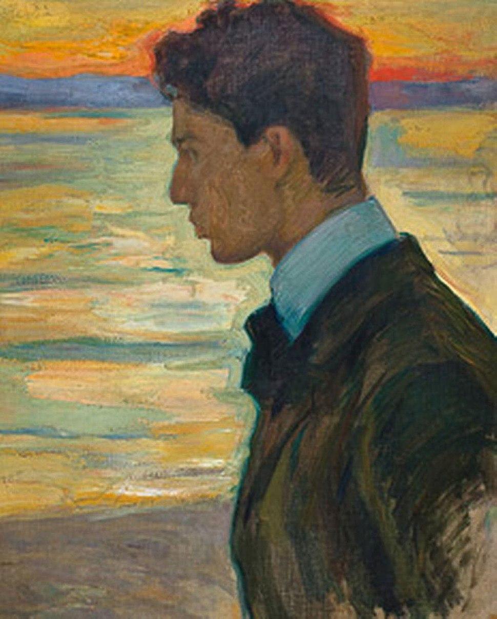 BORIS BESIDE THE BALTIC AT MEREKULE, 1910 by L.Pasternak