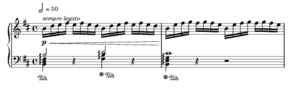 Prelude in E minor, BWV 855a - J.S. Bach arr. Siloti, Prelude in B minor, measures 1–2