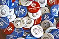 Badges of Wikimedia Armenia and Armenian Wikipedia.jpg
