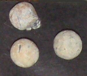 Buck and ball - Buckshot pellets from the American Civil War