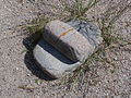 Bandelier National Monument in September 2011 - grinding stone.JPG
