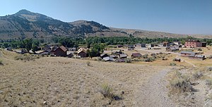 Bannack, Montana - Overhead view of Bannack from the cemetery