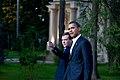 Barack Obama & Dimitry Medvedev at Medvedev's dacha 2009-07-06.jpg