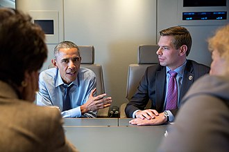 Eric Swalwell - Swalwell meets with President Barack Obama on February 12, 2015.