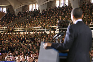 Marine Corps Base Camp Lejeune - Barack Obama at Camp Lejeune, 2009