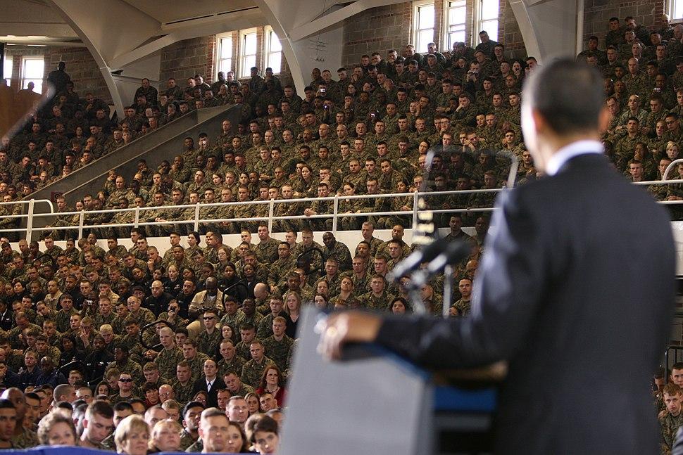 Barack Obama speaks at Camp Lejeune 2-27-09 1