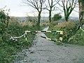 Barrier on Penplas Road near Cefn Cadle Farm - geograph.org.uk - 1049399.jpg