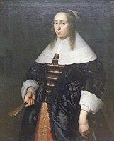 Bartholomeus van der Helst - Frau in schwarzer Atlasrobe.jpg