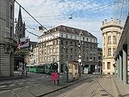 Basel, straatzicht Steinenberg-Sankt Alban Graben foto3 2013-07-27 09.48