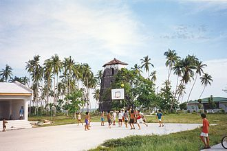 Sports in the Philippines - Rural children playing basketball in the Philippines.