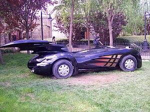 Parque Warner Madrid - Batmobile in Parque Warner Madrid
