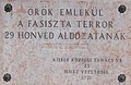 Batthyány-kastély, a fasiszta terror áldozatinak emléktáblája, 2019 Kisbér.jpg