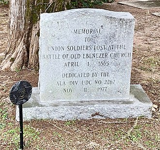 Battle of Ebenezer Church - Battle of Ebenezer Church Union Dead Memorial