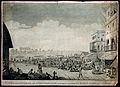 Bazaar at Murshidabad, West Bengal. Etching by James Moffat, Wellcome V0050451.jpg