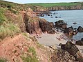Beach and cliffs at Sandy Haven - geograph.org.uk - 1540238.jpg