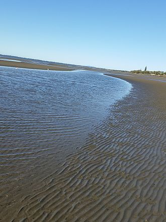 Beachmere, Queensland - Beachmere, Moreton Bay, with the tide out