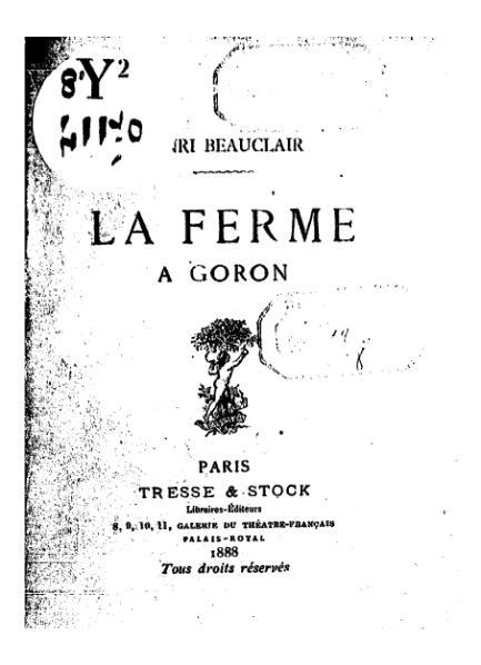 File:Beauclair - La Ferme à Goron, 1888.djvu