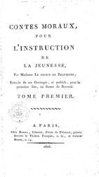 Jeanne-Marie Leprince de Beaumont: Contes moraux pour l'instruction de la jeunesse