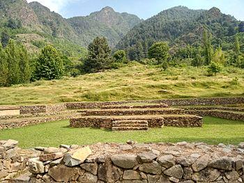 Beautiful mountain & Harwan Buddhist ruin.jpg